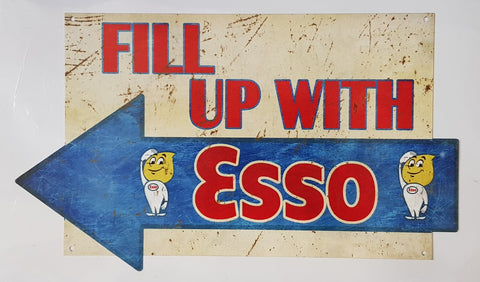 Tin Sign - Fill Up With Esso