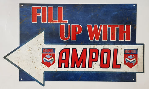 Tin Sign - Fill Up With Ampol