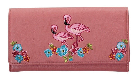 Damaged Banned Clothing - Dusty Pink Flamingo Ladies Wallet