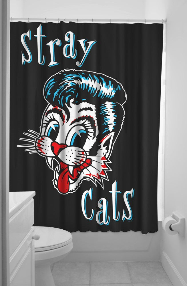 Sourpuss Stray Cats Shower Curtain