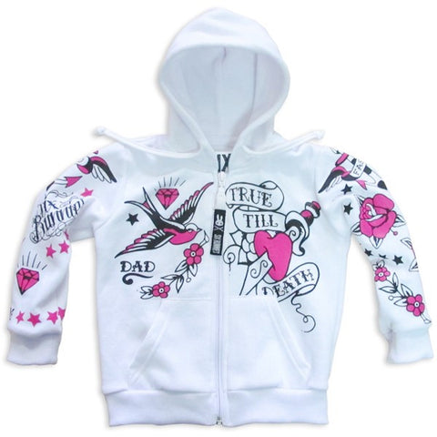 Six Bunnies - True Till Death Kids Black Hoodie