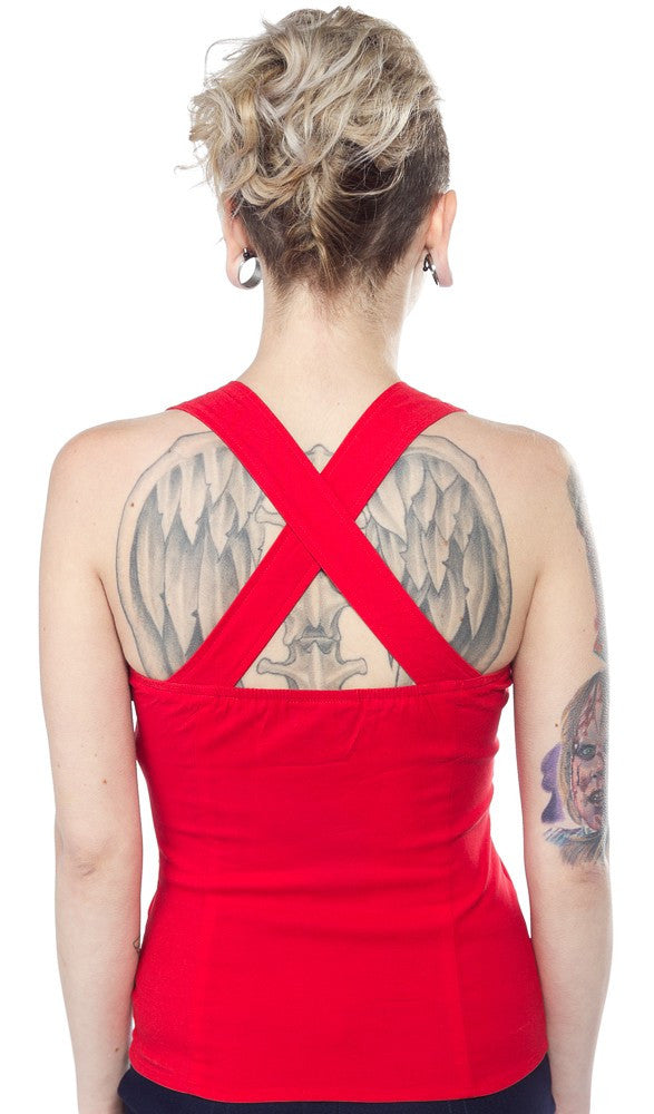 Sourpuss Ladies Top Veronica Red