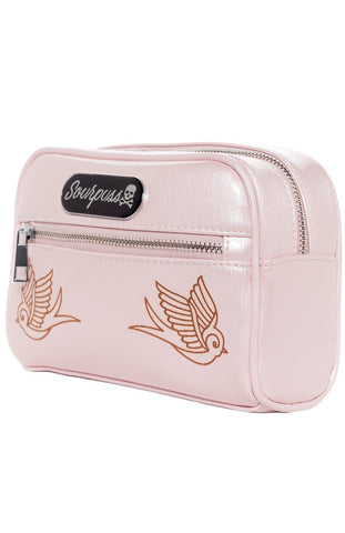 Sourpuss Makeup Bag - Sparrow Light Pink