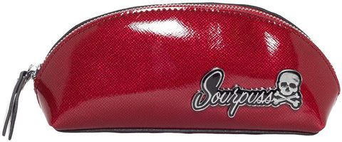 Sourpuss -Makeup Bag Super Floozy Red