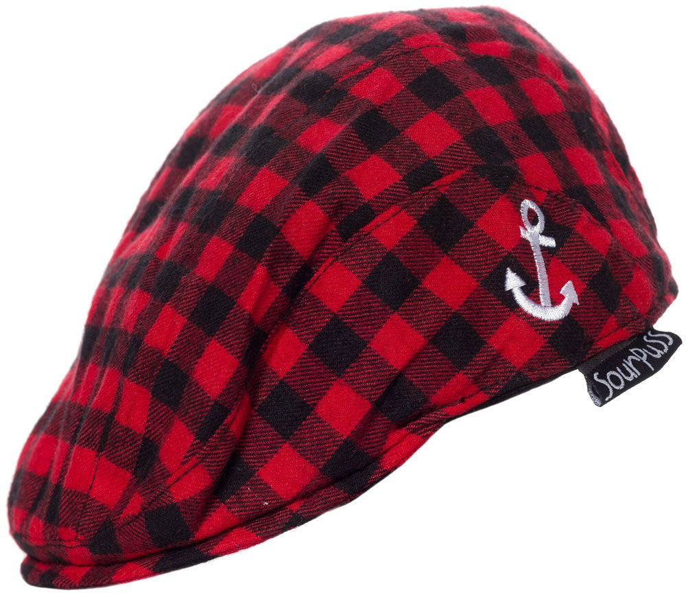 Sourpuss Kids Jeff Caps Red Anchor