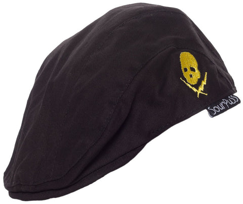 Sourpuss Kids Jeff Caps Skull n Bolts Black