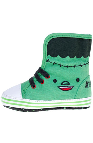 Kids Shoes - Sourpuss Monster Sneakers Green/Black