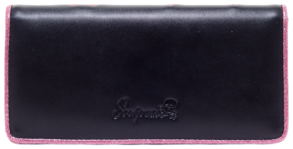 Sourpuss Ladies Wallet SpiderWeb Black/Pink