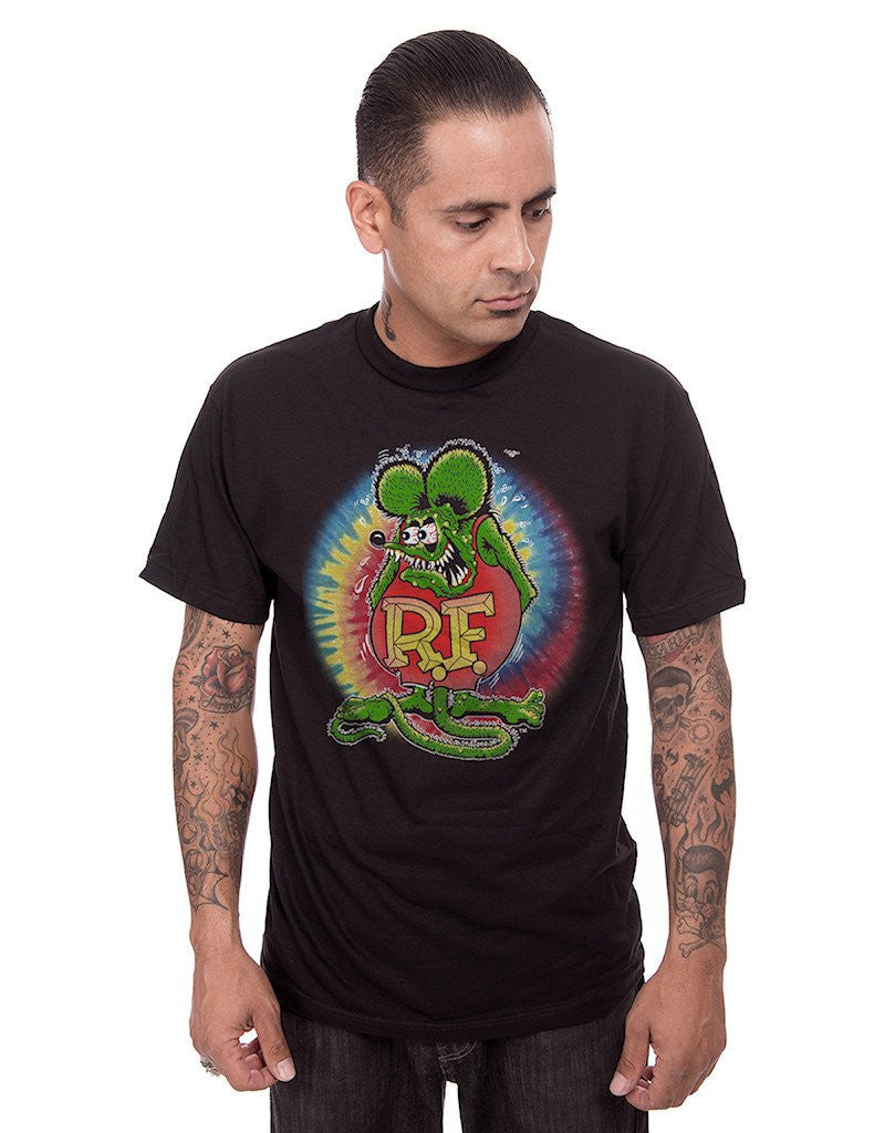 Steady Clothing Rat Fink Tie Dye Mens Tee|Poisonkandyklothing