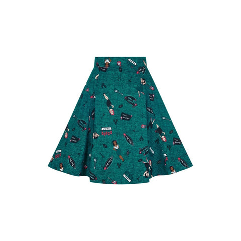 Collectif - Tanya Vegas Vamp Swing Skirt|Poisonkandyklothing
