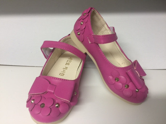 Kids Shoes - Gumball Pink Flat Sandals with Studded Flowers