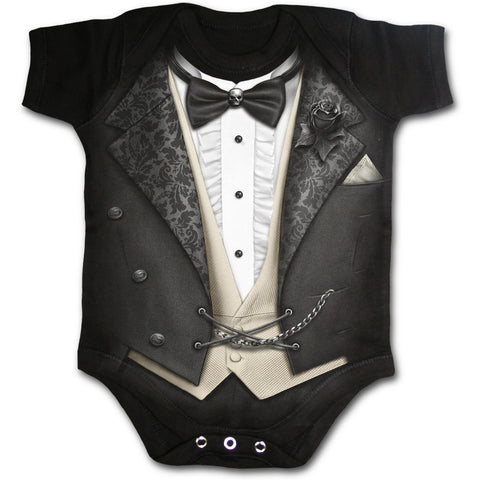 Babies Romper Tuxed