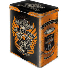 Tin Container - Harley Davidson  Wild At Heart