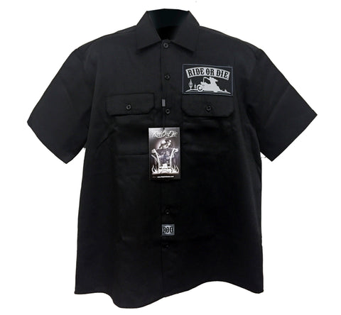 Button up Workshirt - DGA  R.O.D. Highway to hell Poison kandy klothing