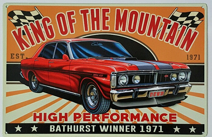 Tin Sign - XY GT HO 351 King Of The Mountain