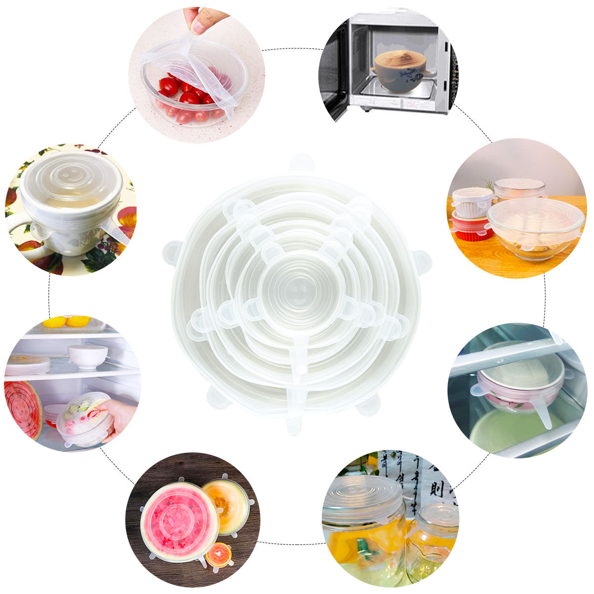 FreshLock™ Silicone Lids (Pack of 6)