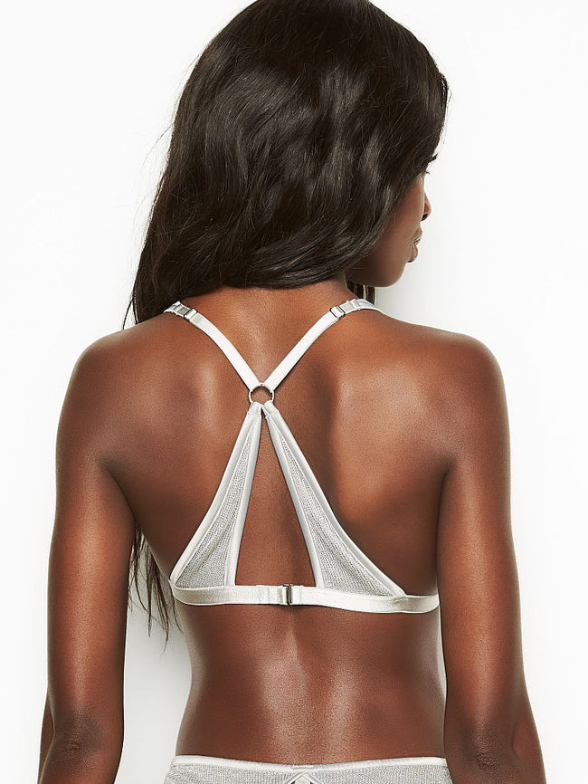 Victoria's Secret Unlined Chainmail Triangle Silver Brallete - Victoria's Secret Angel shop