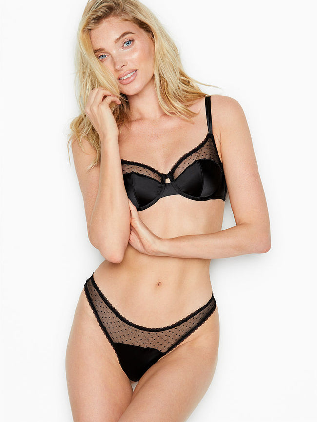 Victoria's Secret Dot Mesh Thong Kalhotky - Victoria's Secret Angel shop