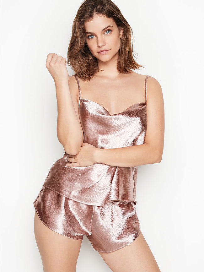 Cowl-Neck Satin Cami Set - Victoria's Secret Angel shop