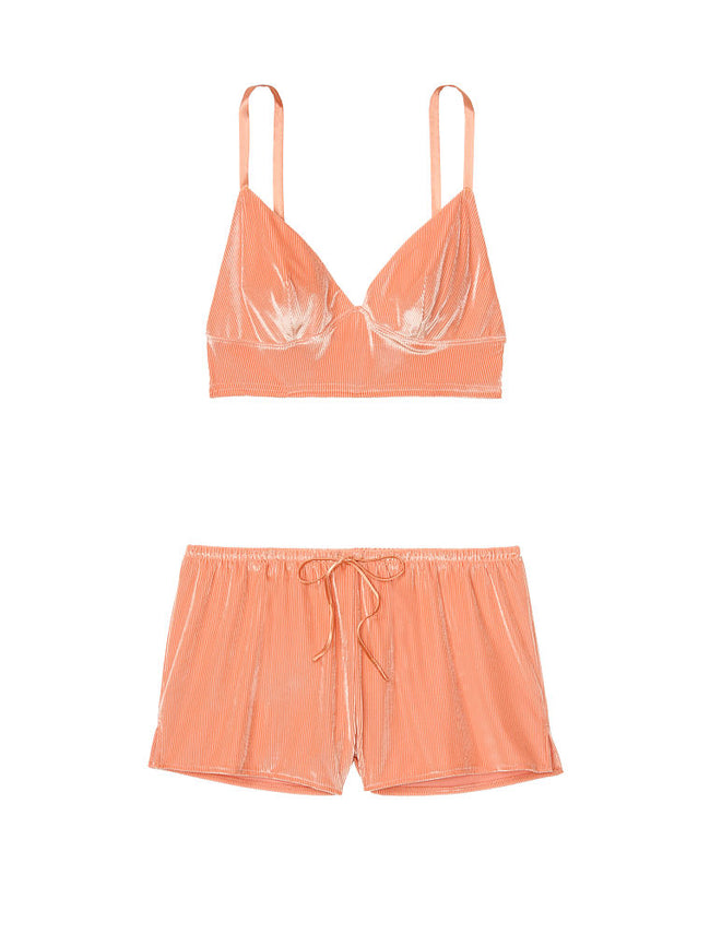 Victoria's Secret Velvet Cami & Short Set Pink - Victoria's Secret Angel shop
