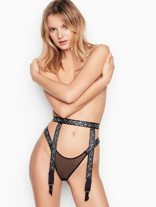 Victoria's Secret Rhinestone-Embellished Garter Belt - Victoria's Secret Angel shop