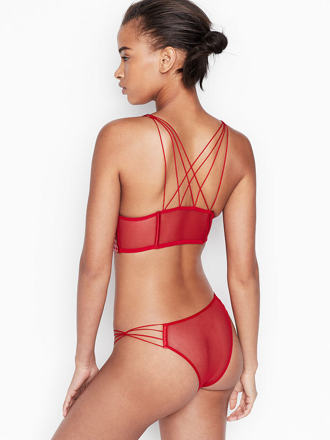 Victoria's Secret Starburst Tanga Red Kalhotky - Victoria's Secret Angel shop