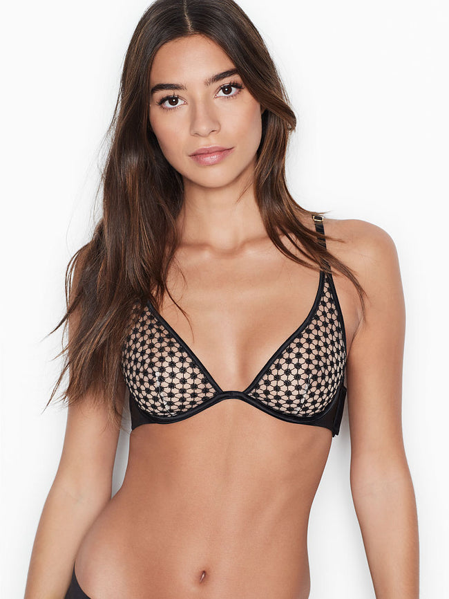 Victoria's Secret Starburst Plunge Black Podprsenka - Victoria's Secret Angel shop