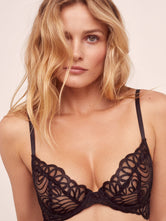 Victoria's Secret After Dark Plunge Black Podprsenka
