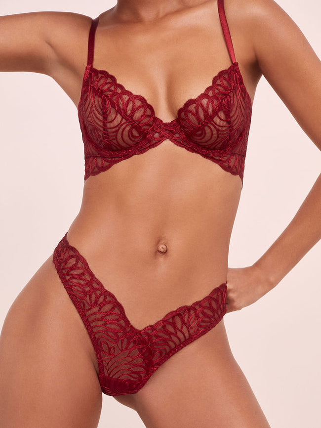 Victoria's Secret After Dark Plunge Red Podprsenka - Victoria's Secret Angel shop