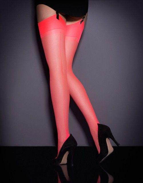 S&H Nylon stocking Neon Coral Punčochy - Victoria's Secret Angel shop