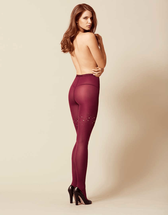 Ginger Tights Burgundy Swarovski Punčochy - Victoria's Secret Angel shop