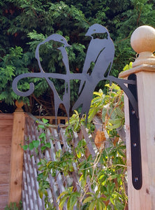 Two Swallows Bird Feeder and Hanging Basket Bracket.