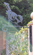 Load image into Gallery viewer, Great tit bird feeder or hanging basket bracket.