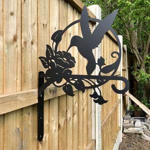 Large Humming Bird and Flower Bird Feeder Hook
