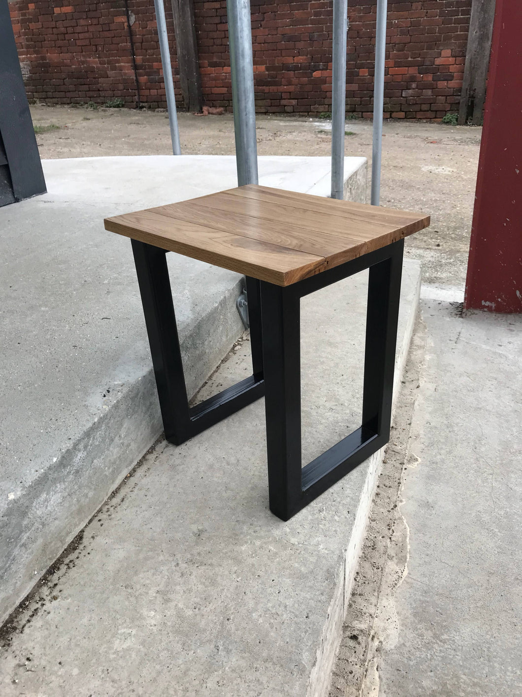 Industrial table hand crafted occasional, side or console table