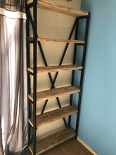 Load image into Gallery viewer, Bookcase - handmade from metal and reclaimed wood