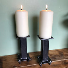 Load image into Gallery viewer, Industrial Design Hand Crafted Candle Sticks