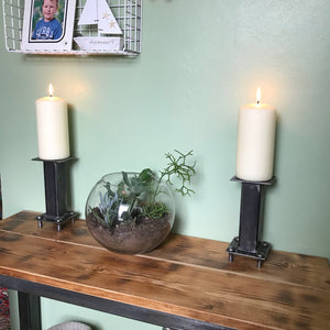 Industrial Design Hand Crafted Candle Sticks