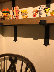 Gothic ended shelf brackets (pair!) Just the Brackets!
