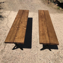 Load image into Gallery viewer, Farmhouse Style Rustic Benches Singularly or a Pair.