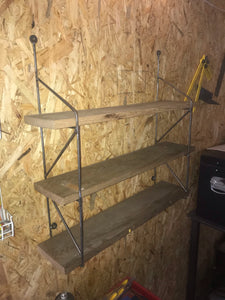 Industrial Floating Shelf Unit