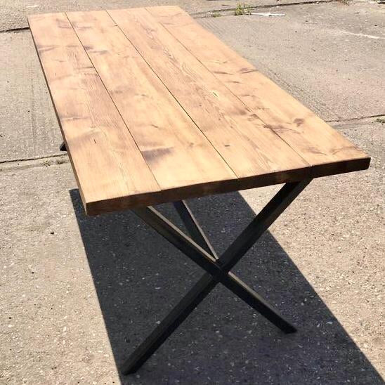 Farmhouse Style Rustic Dining Table (no benches!)