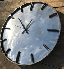 Load image into Gallery viewer, Metal Upon Metal Industrial Clock