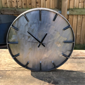 Metal Upon Metal Industrial Clock