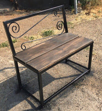 Load image into Gallery viewer, Garden Bench in Industrial Style