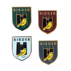Birder Badge Enamel Pins