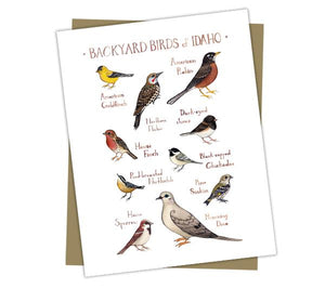 Wholesale Backyard Birds Field Guide Cards: Idaho