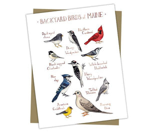 Wholesale Backyard Birds Field Guide Cards: Maine
