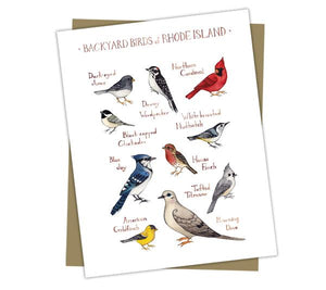 Wholesale Backyard Birds Field Guide Cards: Rhode Island