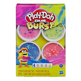 Massa de modelar Play-Doh Color Burst Com 4 / E6966 - playnjoy.shop
